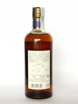 A photo of the back side of a bottle of Nikka Single Malt Yoichi 10 year