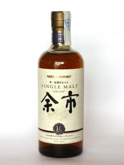 A photo of the frontal side of a bottle of Nikka Single Malt Yoichi 10 year