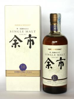 A bottle of Nikka Single Malt Yoichi 10 year