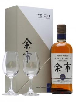 Nikka Yoichi 10 Year Old + 2 Glasses / Gift Pack Japanese Whisky