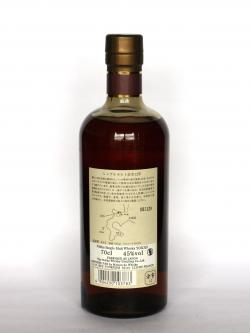 A photo of the back side of a bottle of Nikka Yoichi 12 year