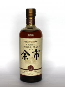 A photo of the frontal side of a bottle of Nikka Yoichi 12 year