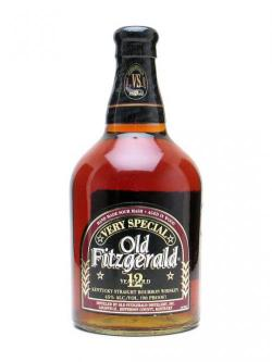 A bottle of Old Fitzgerald 12 Year Old Kentucky Straight Bourbon Whiskey