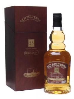 A bottle of Old Pulteney 23 Year Old / Bourbon Casks Highland Single Malt Whisky