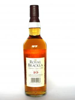 Royal Brackla 10 year Back side