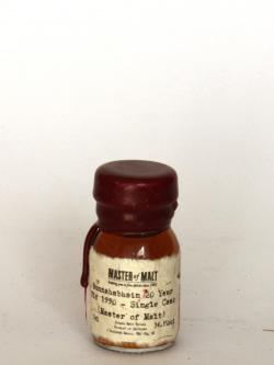A photo of the frontal side of a bottle of Bunnahabhain 20 year 1990 Single Cask Master of Malt