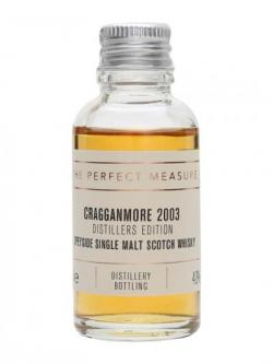 Cragganmore 2003 Distillers Edition Sample Speyside Whisky