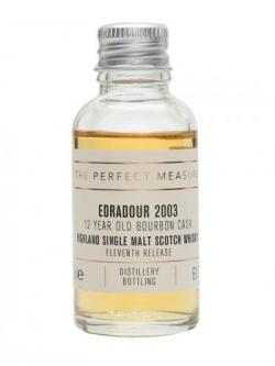 Edradour 2003 Sample / Bourbon Cask / Eleventh Release Highland Whisky