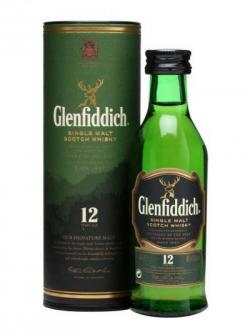 Glenfiddich 12 Year Old Miniature Speyside Single Malt Scotch Whisky