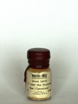 Green Label 15 year Trinidad Rum Front side