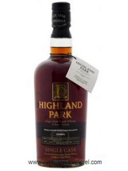 A bottle of Highland Park 12 Year Old Single Cask #1555