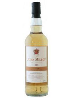 A bottle of Laphroaig 10 Year Old John Milroy Selection