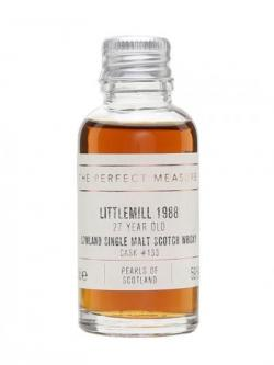 Littlemill 1988 Sample / 27 Year Old / Pearls Of Scotland Lowland Whisky