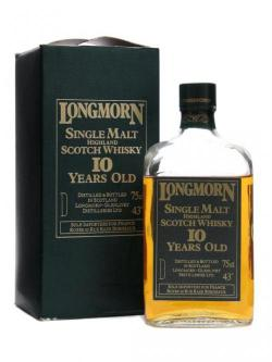 Longmorn 10 Year Old / Rectangular / Bot. 1960's Speyside Whisky