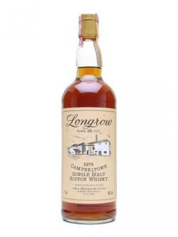Longrow 1974 / 16 Year Old / Sherry Cask (Cork) Campbeltown Whisky