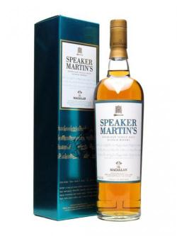 A bottle of Macallan 10 Year Old / Speaker Martin's Speyside Whisky