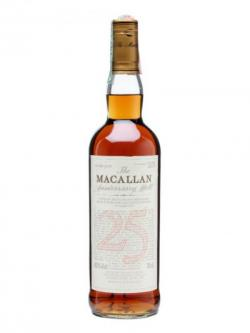 Macallan 25 Year Old / Sherry Oak Speyside Single Malt Scotch Whisky