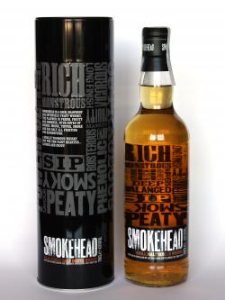 A bottle of Smokehead
