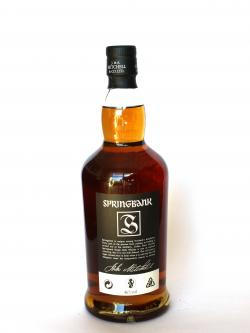 Springbank 10 year Back side