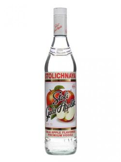 A bottle of Stolichnaya Gala Apple Vodka