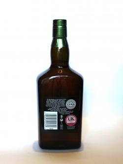 A photo of the back side of a bottle of Strathisla 12 year