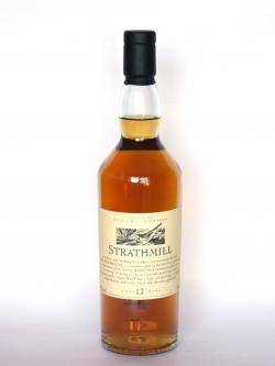 A photo of the frontal side of a bottle of Strathmill 12 year