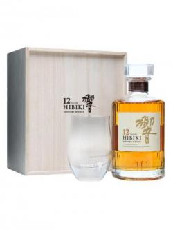 Suntory Hibiki 12 Year Old Glass Set Blended Japanese Whisky