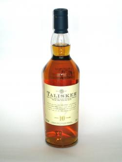 Talisker 10 year Front side