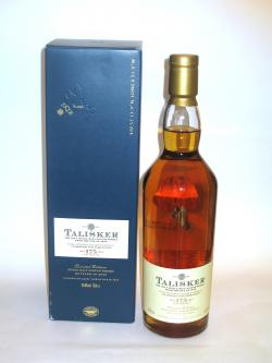 A bottle of Talisker 175th Anniversary