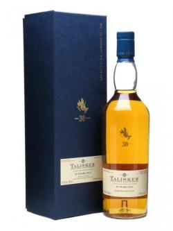 A bottle of Talisker 30 Year Old / Bot. 2010 Island Single Malt Scotch Whisky