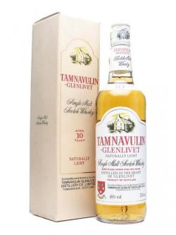 A bottle of Tamnavulin Glenlivet 10 Year Old Speyside Single Malt Scotch Whisky