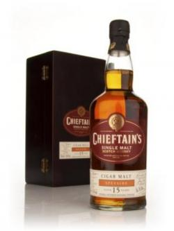 A bottle of The Cigar Malt 15 year Chieftain's Choice