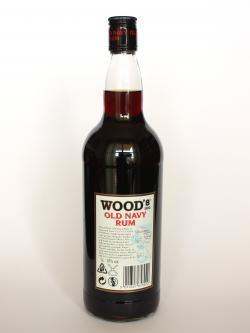 Wood's 100 Navy Rum Back side