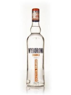A bottle of Wyborowa Orange Vodka