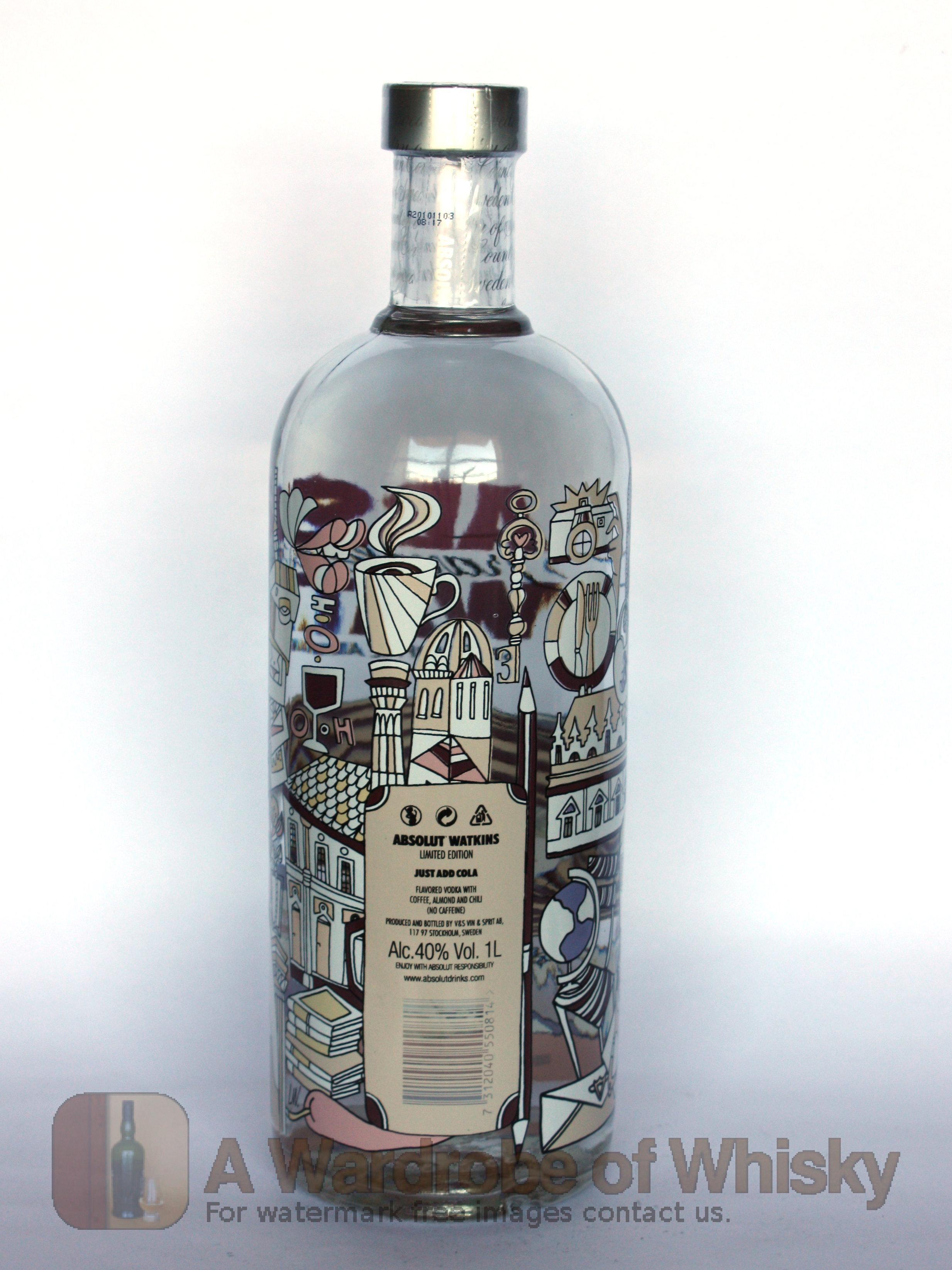 Buy Absolut Vodka Watkins Travellers Exclusive Vodka