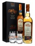A bottle of Arran 10 Year Old / Glass Pack Island Single Malt Scotch Whisky