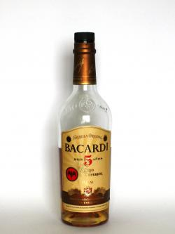 Bacardi 5 year A�ejo Superior Front side