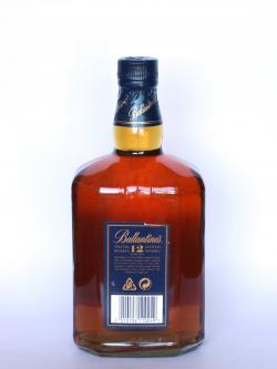 Ballantine's 12 year old Special Reserve Gold Seal Back side