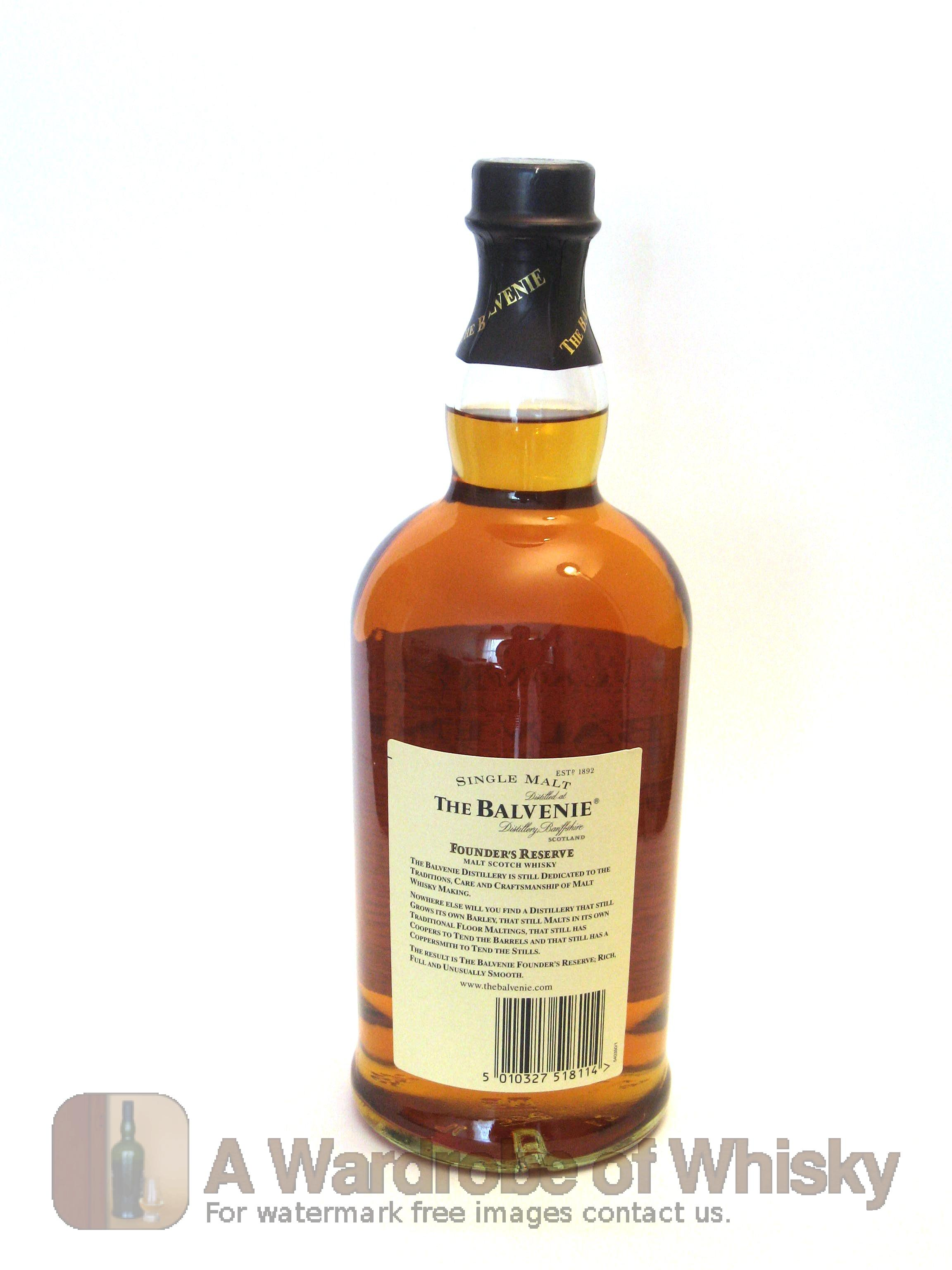 Balvenie single malt founders reserve