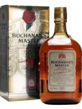 A bottle of Buchanan's Master Blended Scotch Whisky