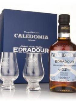 Edradour Caledonia 12 Year Old With 2 Glasses