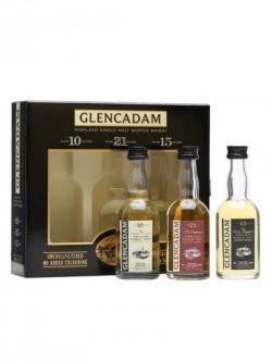 Glencadam Miniature Gift Pack / 10, 15 and 21 Year Old Highland Whisky
