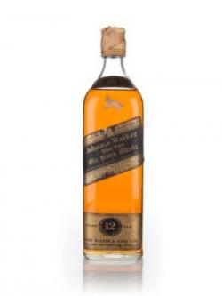 Johnnie Walker 12 Year Old Black Label - early 1970s