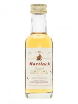Mortlach 15 Year Old Miniature / Gordon& Macphail Speyside Whisky